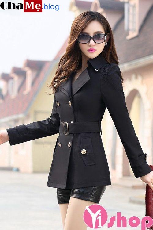 Áo khoác nữ kaki đẹp cho quý cô công sở trẻ trung đông 2021 - 2022