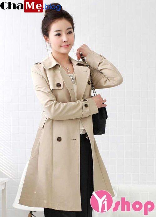 Áo khoác nữ kaki Hàn Quốc đẹp cho cô nàng mi nhon đông 2021 - 2022