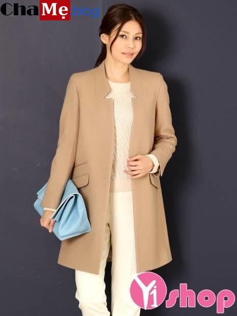 Trang phục lên ngôi năm nay là áo khoác nữ không cổ đẹp thu đông 2021 - 2022