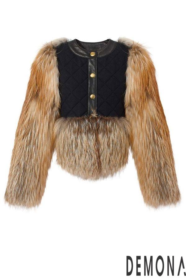 Áo khoác nữ lông rũ đẹp thu đông 2021 - 2022 cá tính tới công sở phần 6