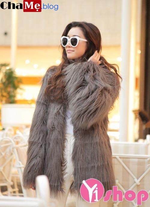 Áo khoác nữ lông thú đẹp sang trọng ấm áp ngày đông 2021 - 2022