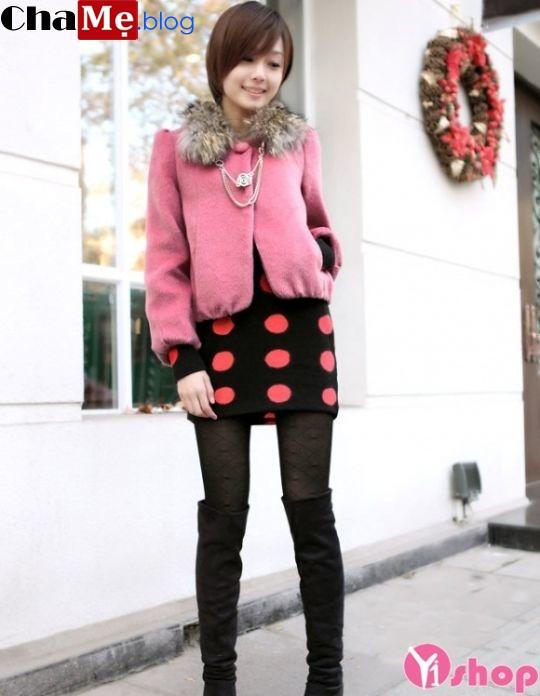 Áo khoác nữ lửng đẹp phong cách sành điệu mùa đông 2021 - 2022