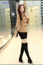 Áo khoác nữ măng tô kiểu Hàn Quốc đẹp thu đông 2021 – 2022 không lạnh