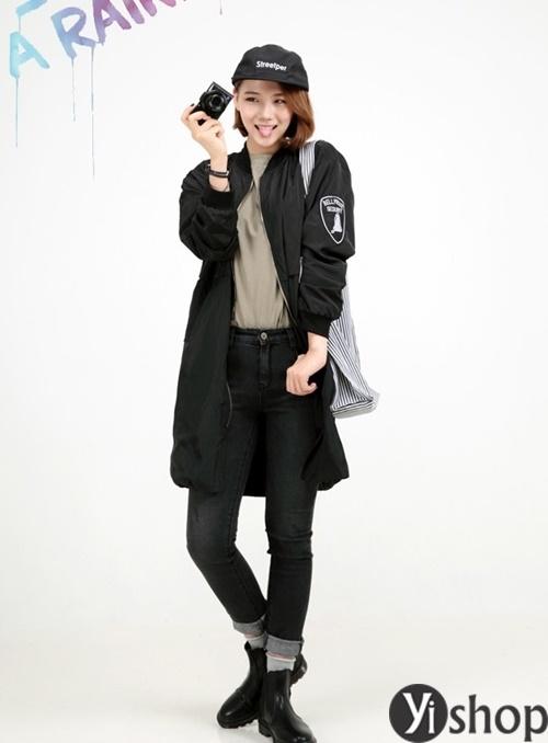 Áo khoác nữ màu đen đẹp nên có trong tủ đồ mùa đông 2021 - 2022 phần 12