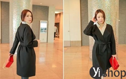 Áo khoác nữ màu đen đẹp nên có trong tủ đồ mùa đông 2021 - 2022 phần 3