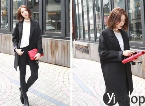Áo khoác nữ màu đen đẹp nên có trong tủ đồ mùa đông 2021 - 2022 phần 5