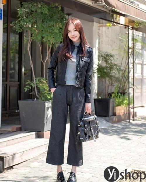 Áo khoác nữ màu đen đẹp nên có trong tủ đồ mùa đông 2021 - 2022 phần 6