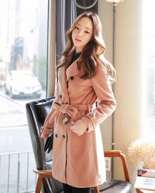 Áo khoác nữ màu pastel đẹp hút hồn nàng công sở thu đông 2021 - 2022 phần 5