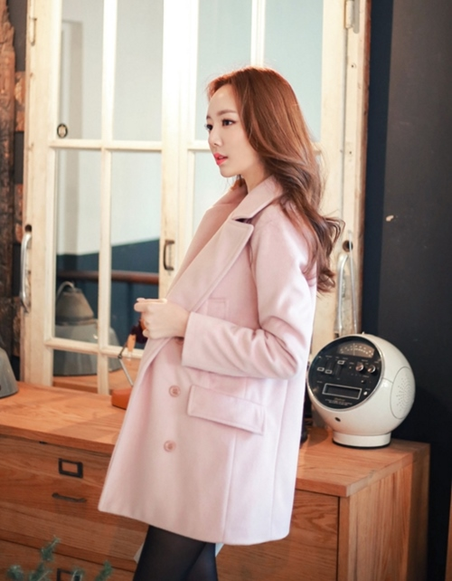 Áo khoác nữ màu pastel đẹp hút hồn nàng công sở thu đông 2021 - 2022 phần 6
