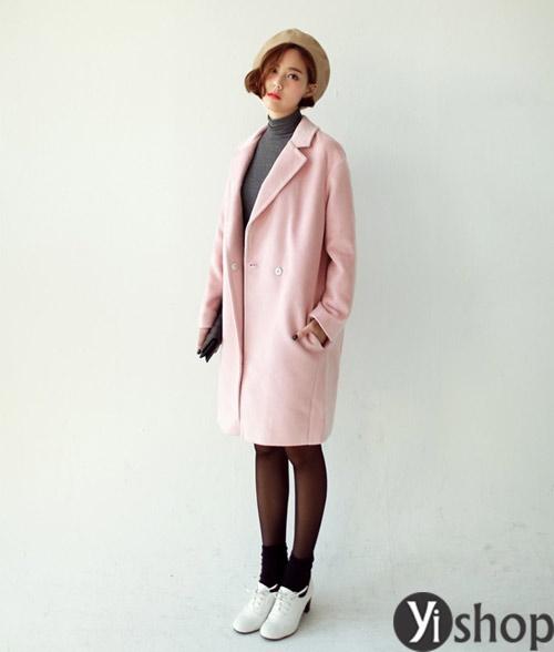 Áo khoác nữ màu pastel đẹp xu hướng hot nhất mùa đông 2021 - 2022 phần 10