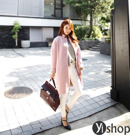 Áo khoác nữ màu pastel đẹp xu hướng hot nhất mùa đông 2021 - 2022 phần 11