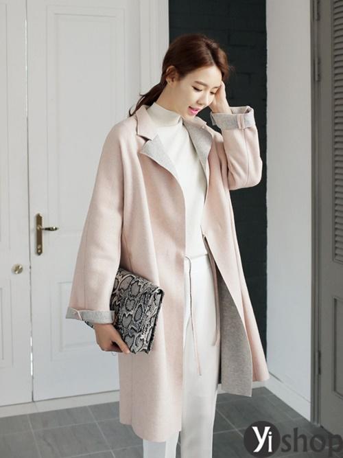 Áo khoác nữ màu pastel đẹp xu hướng hot nhất mùa đông 2021 - 2022 phần 13