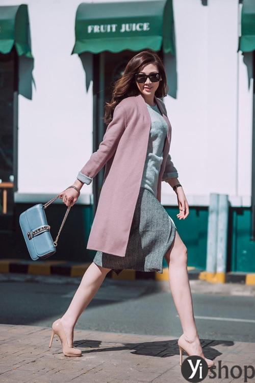 Áo khoác nữ màu pastel đẹp xu hướng hot nhất mùa đông 2021 - 2022 phần 3
