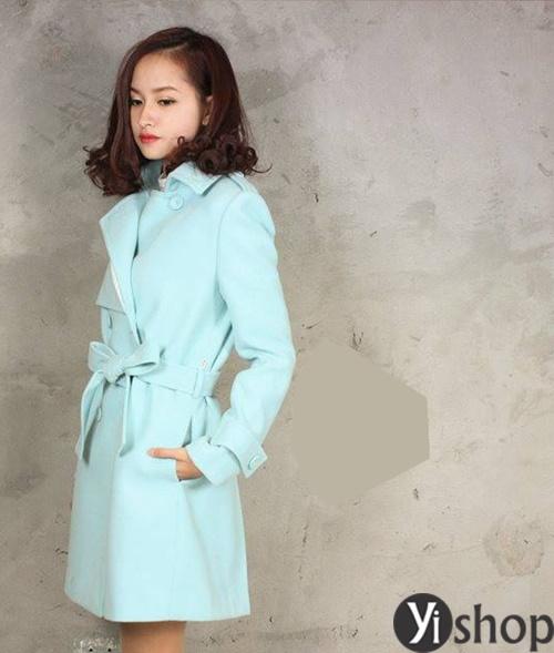 Áo khoác nữ màu pastel đẹp xu hướng hot nhất mùa đông 2021 - 2022 phần 5