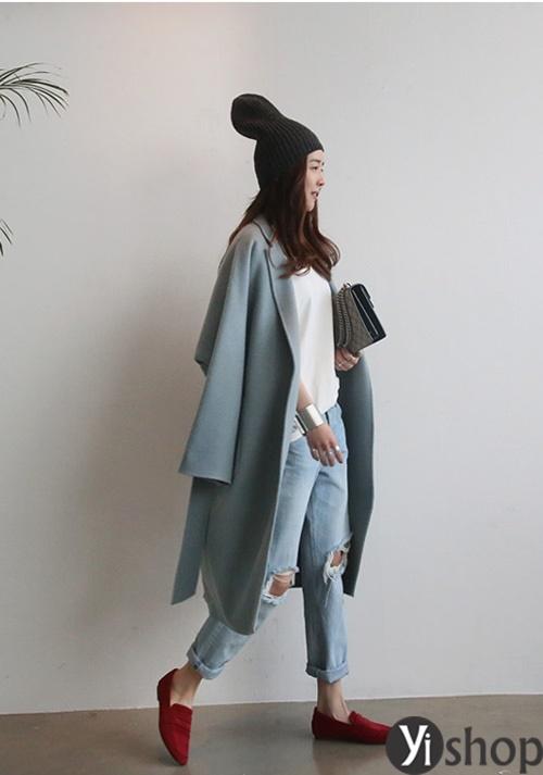 Áo khoác nữ màu pastel đẹp xu hướng hot nhất mùa đông 2021 - 2022 phần 6