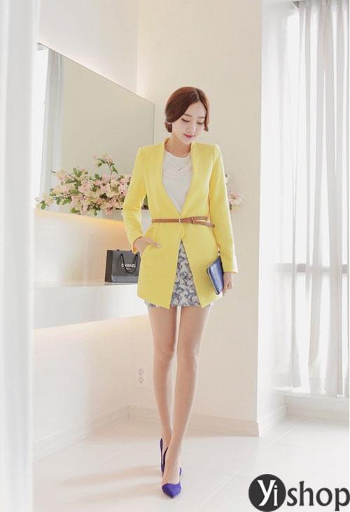 Áo khoác nữ mỏng đẹp dành riêng cho nàng công sở đông 2021 - 2022 phần 10