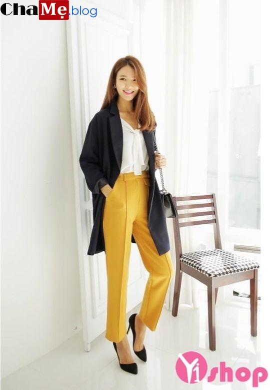 Áo khoác nữ mỏng đẹp form dáng chuẩn Hàn Quốc đông 2021 - 2022