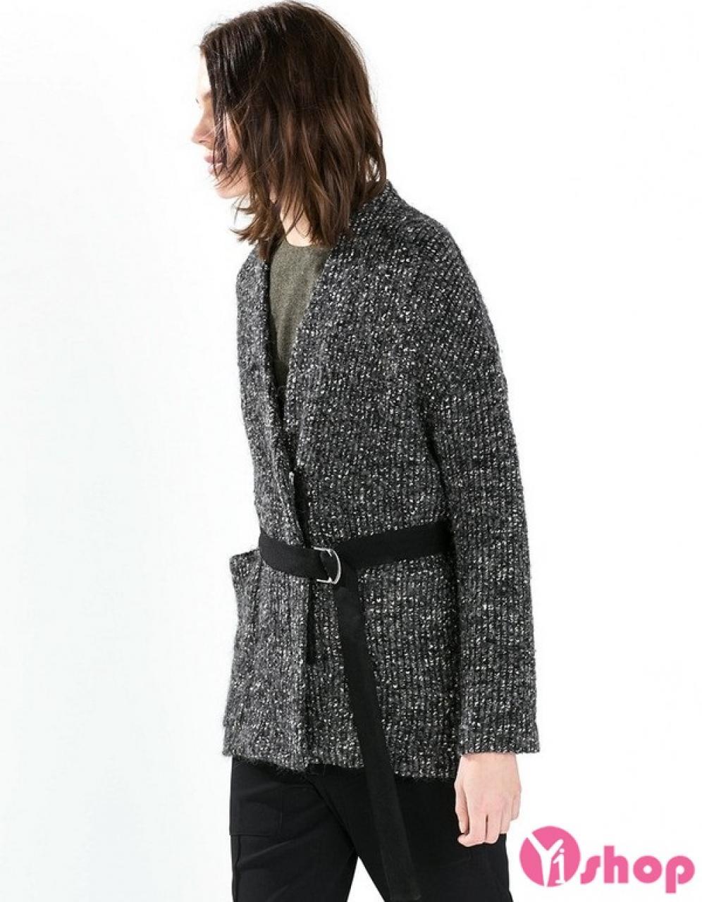 Áo khoác nữ thắt đai eo đẹp thu đông 2019 cho nàng khoe vòng eo thon gọn