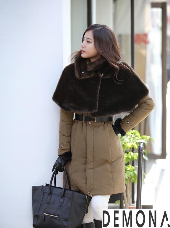 Áo khoác phao cổ lông nữ dáng dài đẹp xu hướng thu đông 2021 – 2022 phần 7