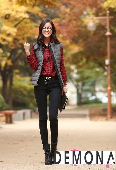Áo khoác phao gile nữ đẹp khỏe khoắn đông 2021 – 2022 phong cách sành điệu phần 1