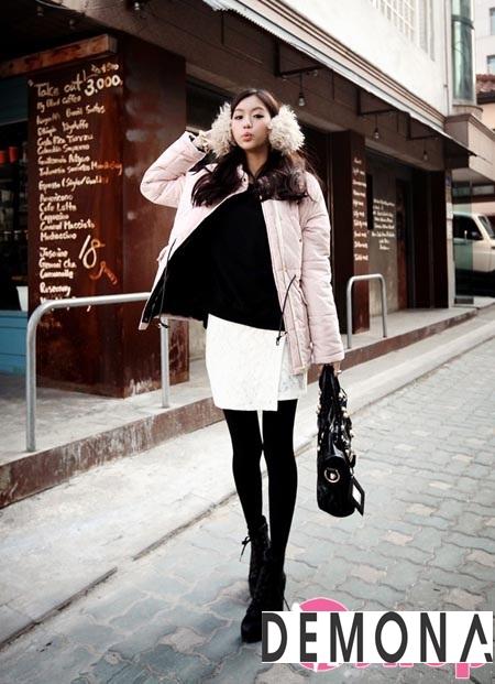 Áo khoác phao lông vũ nữ đẹp kiểu hàn quốc xinh xắn đầu đông 2021 – 2022 phần 3