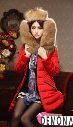 Áo khoác phao nữ cổ lông đẹp ấm áp không lạnh đông 2021 – 2022