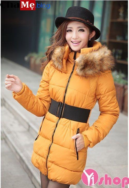 Áo khoác phao nữ cổ lông đẹp cho nàng cò hương không lạnh đông 2021 - 2022