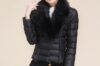 Áo khoác phao nữ cổ lông đẹp cho người gầy ấm áp thu đông 2021 – 2022