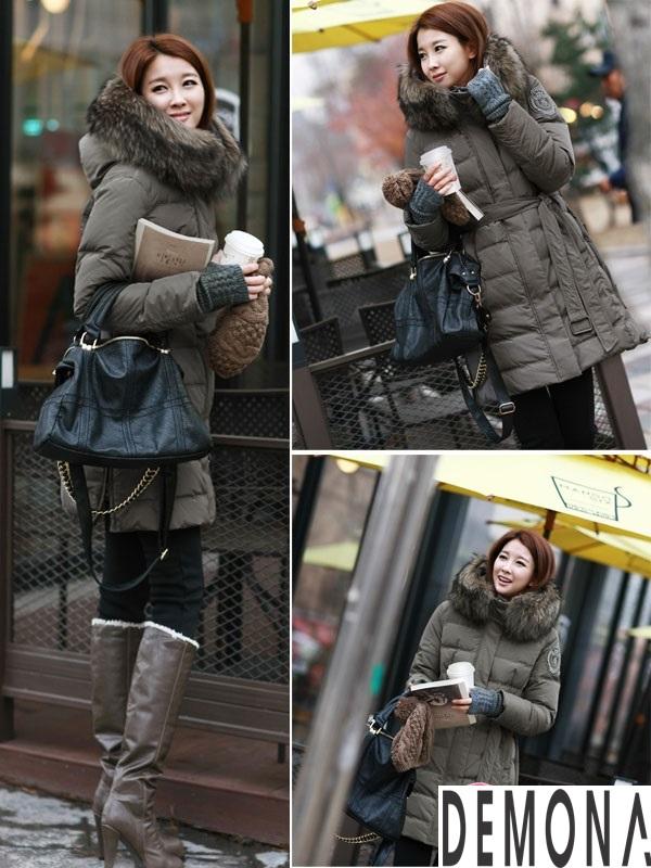 Áo khoác phao nữ cổ lông đẹp công sở thu đông 2019 – 2021 không lạnh phần 4