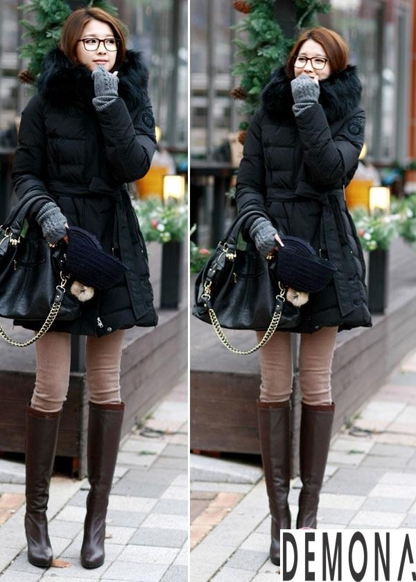 Áo khoác phao nữ cổ lông đẹp công sở thu đông 2019 – 2021 không lạnh phần 7