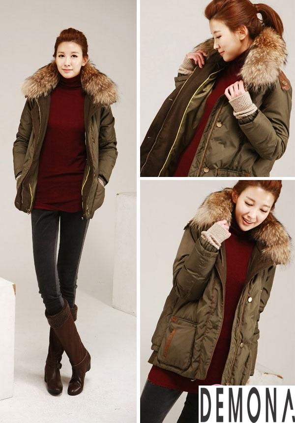 Áo khoác phao nữ cổ lông đẹp công sở thu đông 2019 – 2021 không lạnh phần 8