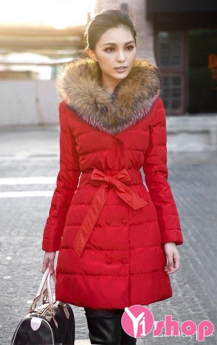 Áo khoác phao nữ cổ lông đẹp sang trọng cực hot nhất thu đông 2019