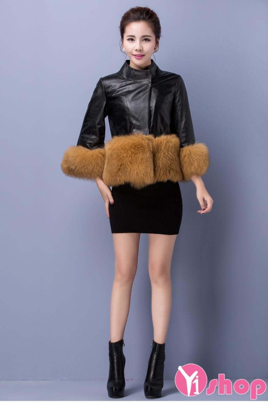 Áo khoác phao nữ cổ lông thú đẹp sang trọng không lạnh đông 2021 - 2022