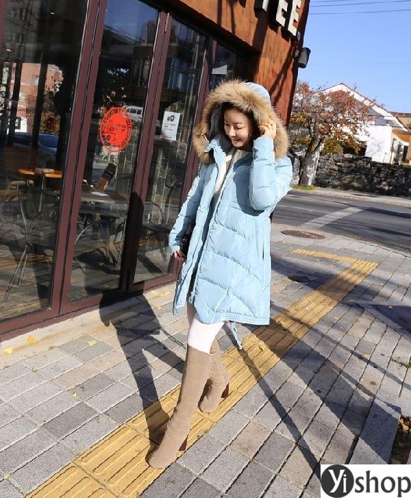 Áo khoác phao nữ có mũ đẹp nhất thu đông 2021 - 2022 ấm áp không lạnh phần 1