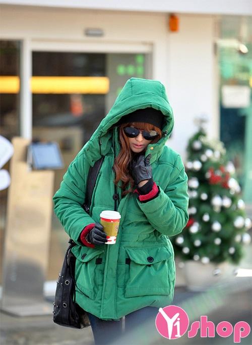 Áo khoác phao nữ có mũ đẹp thu đông 2021 - 2022 cho nàng ấm áp không lạnh