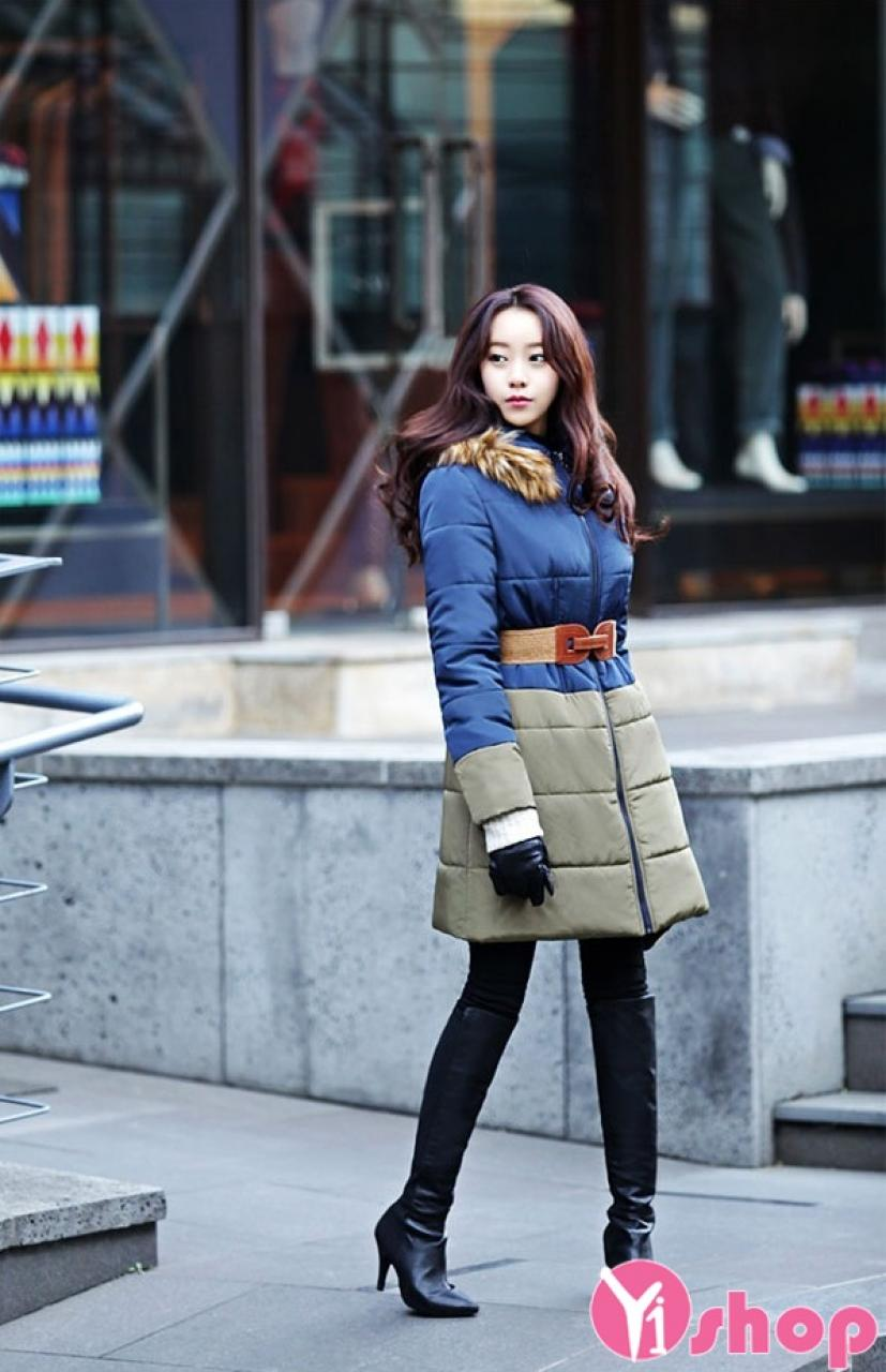 Áo khoác phao nữ công sở Hàn Quốc đẹp tôn dáng chuẩn thu đông 2021 - 2022