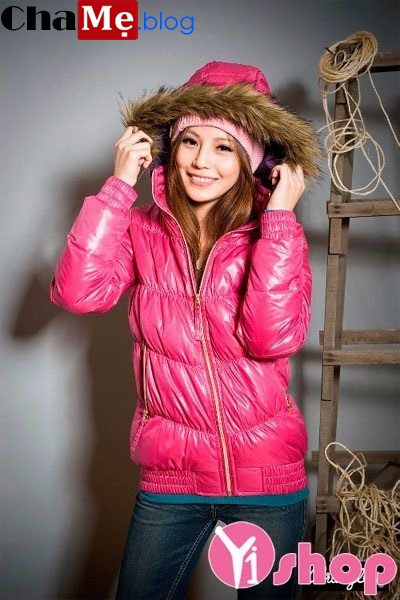 Áo khoác phao nữ da bóng đẹp đông 2021 - 2022 ấm áp ngày lạnh