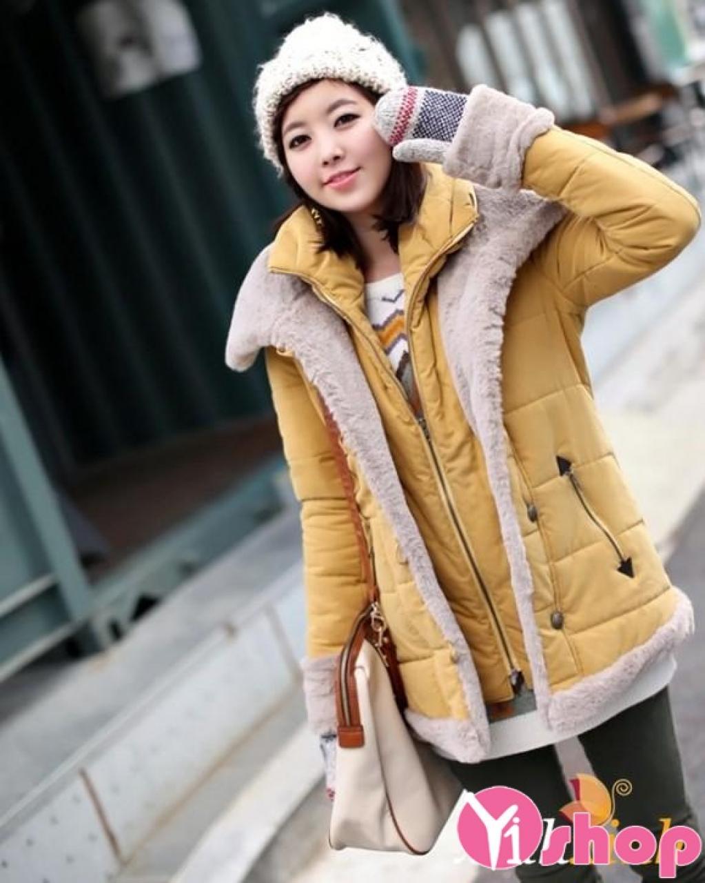 Áo khoác phao nữ dáng dài đẹp thu đông 2019 không lạnh ngày đại hàn