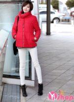 Áo khoác phao nữ dáng ngắn đẹp thu đông 2021 – 2022 kiểu Hàn Quốc ấm áp