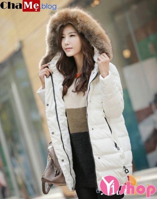 Áo khoác phao nữ dáng ngắn Hàn Quốc đẹp đông 2021 - 2022 không lạnh