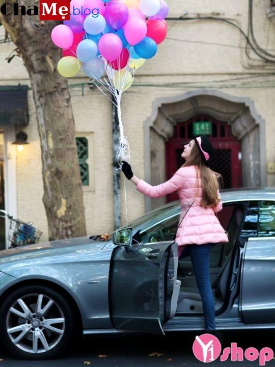 Áo khoác phao nữ màu sắc đẹp không lạnh tới công sở thu đông 2021 - 2022