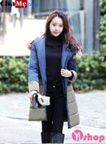 Áo khoác phao nữ đẹp đông 2021 – 2022 Hàn Quốc ấm áp không lạnh