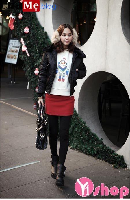 Áo khoác phao nữ đẹp kiểu Hàn Quốc sành điệu dạo phố đông 2021 - 2022