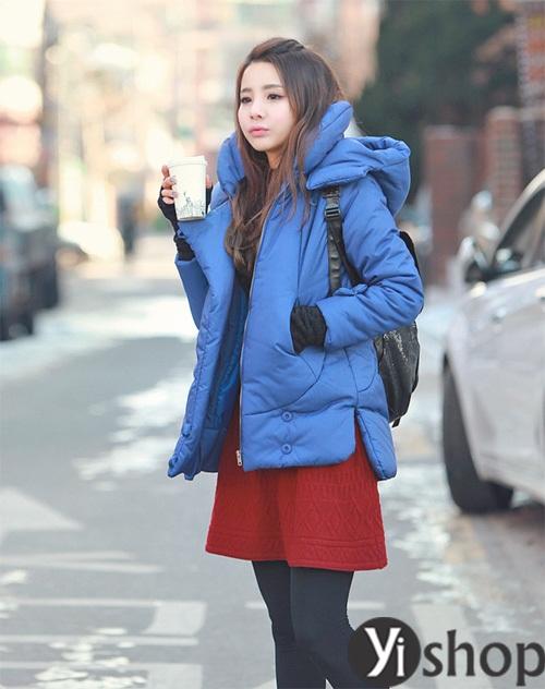 Áo khoác phao nữ đẹp thu đông 2021 - 2022 món đồ được sao Hàn yêu thích nhất phần 12