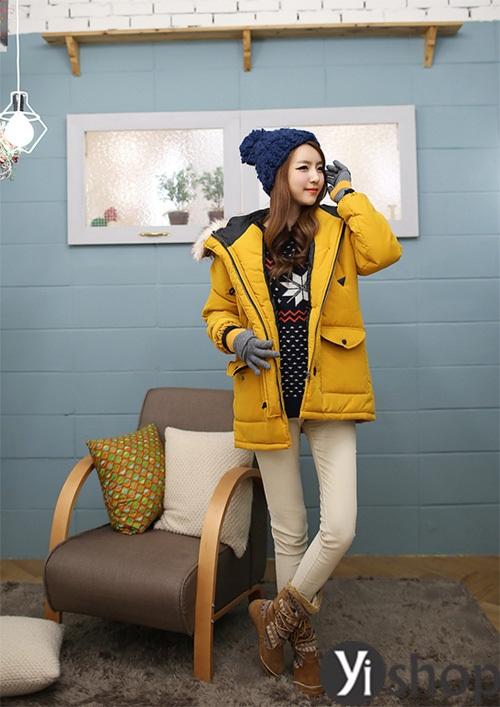 Áo khoác phao nữ đẹp thu đông 2021 - 2022 món đồ được sao Hàn yêu thích nhất phần 8