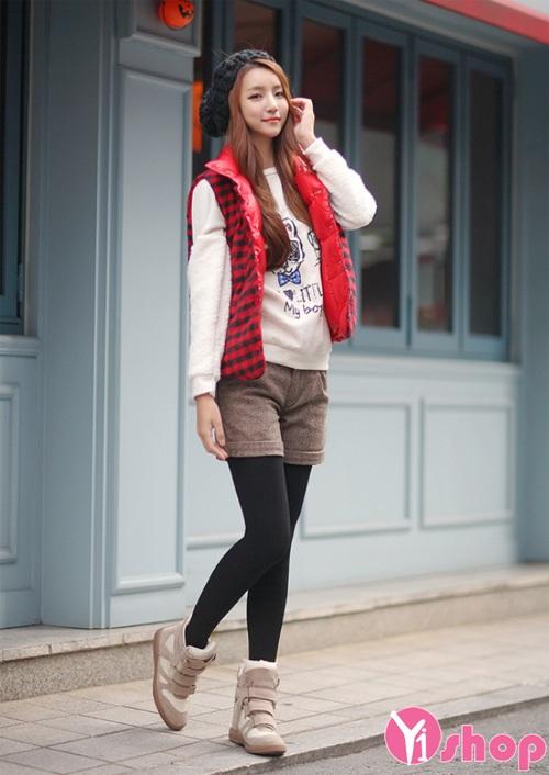 Áo khoác phao nữ gile đẹp thu đông 2019 cho cô nàng tuổi teen
