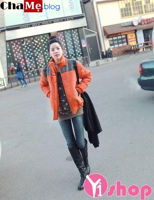 Áo khoác phao nữ Hàn Quốc đẹp đông 2021 - 2022 ấm áp năng động