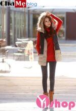 Áo khoác phao nữ Hàn Quốc đẹp đông 2021 – 2022 ấm áp sành điệu
