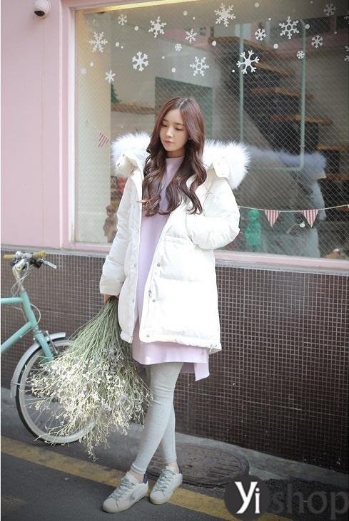 Áo khoác phao nữ Hàn Quốc đẹp thu đông 2019 phù hợp với mọi dáng người