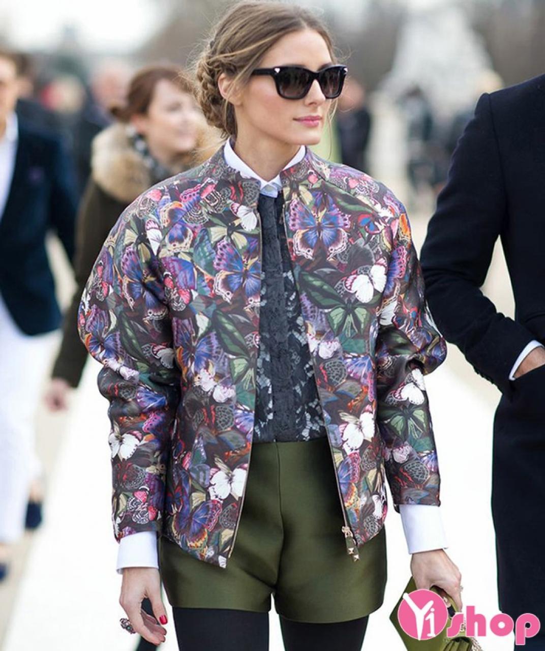 Áo khoác phao nữ họa tiết đẹp cho nàng dịu dàng dạo phố thu đông 2019